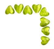 Corações verdes Fotografia de Stock Royalty Free
