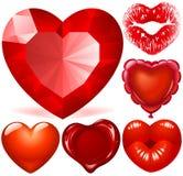 Corações vermelhos ilustração do vetor