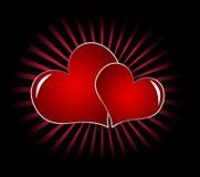 Corações vermelhos Foto de Stock