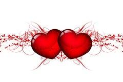 Corações vermelhos ilustração stock