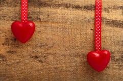Corações vermelhos Fotografia de Stock
