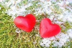 Corações vermelhos Fotos de Stock