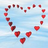 Corações vermelhos ilustração royalty free