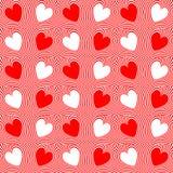 Corações vermelhos abstratos e linhas torcidas fundo Imagem de Stock Royalty Free