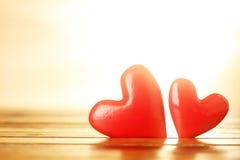 Corações vermelhos brilhantes Imagem de Stock Royalty Free