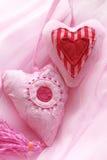 Corações vermelhos da tela Fotografia de Stock
