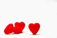 Corações vermelhos do amor Fotografia de Stock