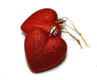 Corações vermelhos do Natal Imagem de Stock Royalty Free