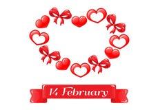 Corações vermelhos dos doces curvas Fotos de Stock Royalty Free