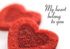 Corações vermelhos dos velentines Foto de Stock Royalty Free