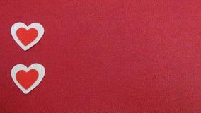 Corações vermelhos e brancos Fotografia de Stock Royalty Free