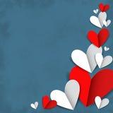 Corações vermelhos e brancos Fotos de Stock Royalty Free