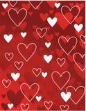 Corações vermelhos e brancos Imagens de Stock