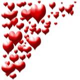 Corações vermelhos para Valentim Foto de Stock