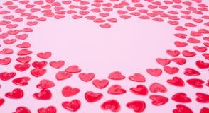 Corações vermelhos pequenos Imagem de Stock Royalty Free