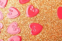 Corações vermelhos pequenos Foto de Stock Royalty Free