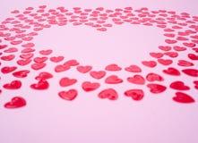 Corações vermelhos pequenos Imagens de Stock Royalty Free