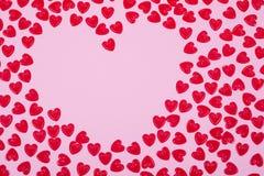 Corações vermelhos pequenos Imagem de Stock