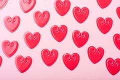 Corações vermelhos pequenos Fotos de Stock Royalty Free