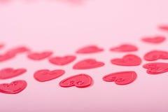 Corações vermelhos pequenos Fotos de Stock