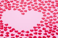 Corações vermelhos pequenos Fotografia de Stock