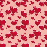 Corações vermelhos sem emenda Foto de Stock