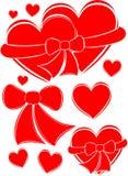 Corações, vetor Fotografia de Stock