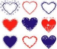 Corações, vetor Fotos de Stock Royalty Free