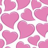 Cora??es cor-de-rosa sem emenda Imagem de Stock