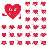 Cora??es do Valentim, smiley, grupo Imagem de Stock Royalty Free