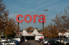 Cora market in mulhouse Stock Photo