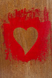 Cora??o pintado vermelho Foto de Stock