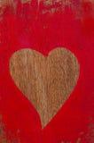 Cora??o pintado vermelho Imagens de Stock
