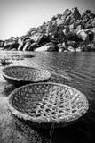 Coracle boats at Hampi Stock Image