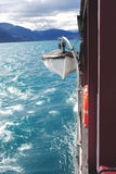 Coracle. On the ship in New Zealand Stock Image