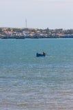 Coracles nautiques de pêche en mer, bateaux tribals Photos libres de droits