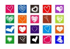 Corações Fotografia de Stock Royalty Free