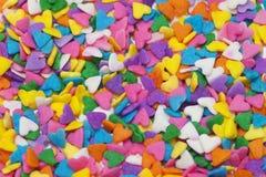 Corações coloridos Fotografia de Stock