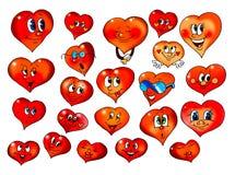 Corações com mimicry diferente Fotografia de Stock Royalty Free