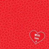 Corações com o amor sem emenda Imagens de Stock