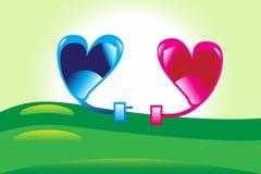 Corações de conexão. Imagem de Stock