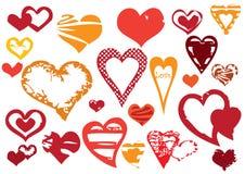 Corações de Grunge Fotos de Stock