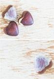 Corações do chocolate Fotos de Stock