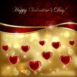 Corações do rubi Foto de Stock Royalty Free