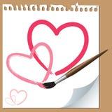Corações do Valentim Imagens de Stock