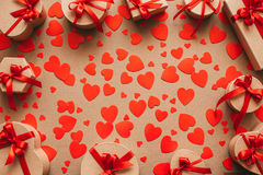 Corações dos presentes Amor Fotografia de Stock