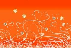 Corações e hastes Foto de Stock