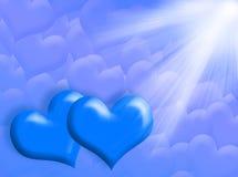 Corações e luz Foto de Stock Royalty Free