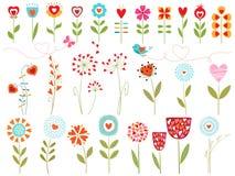 Corações florais Imagem de Stock