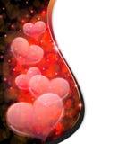Corações transparentes. Cartão do dia dos Valentim Imagem de Stock